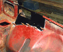 MGB Roadster front inner wing repairs